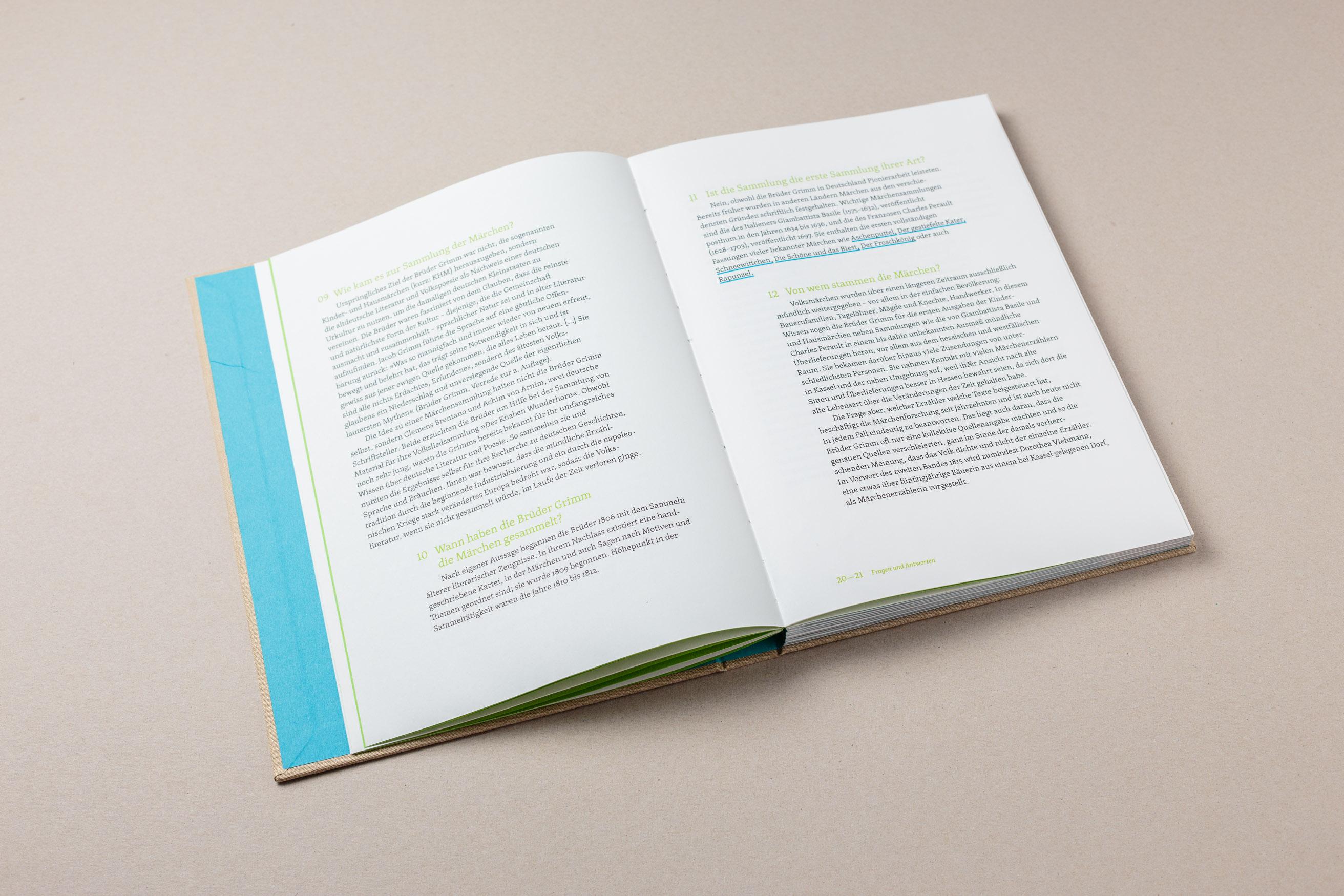 Doppelseite Frage-/Antwort-Katalog, Grimms Märchen Heute