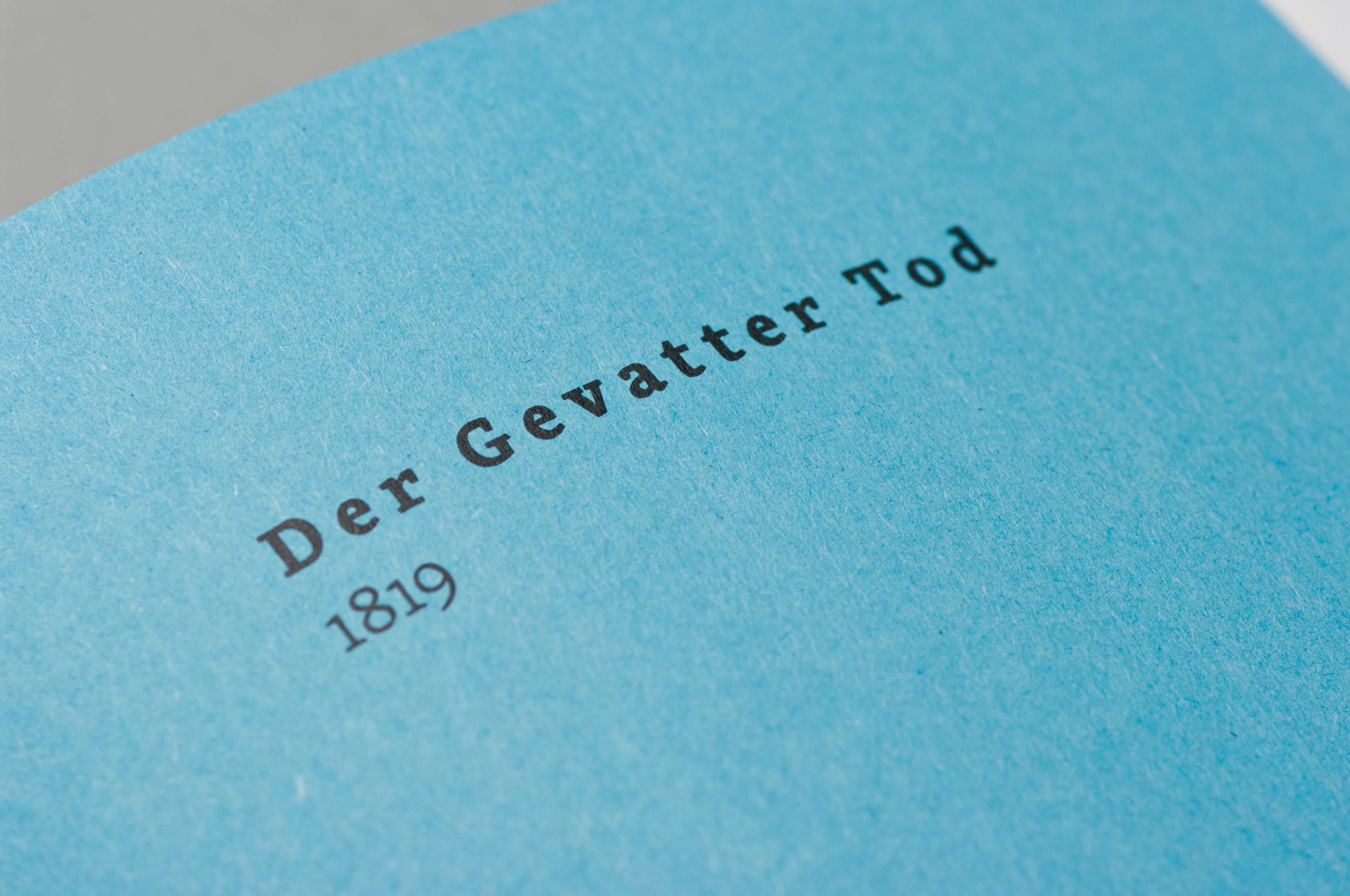 Detail der Typografie, Grimms Märchen Heute