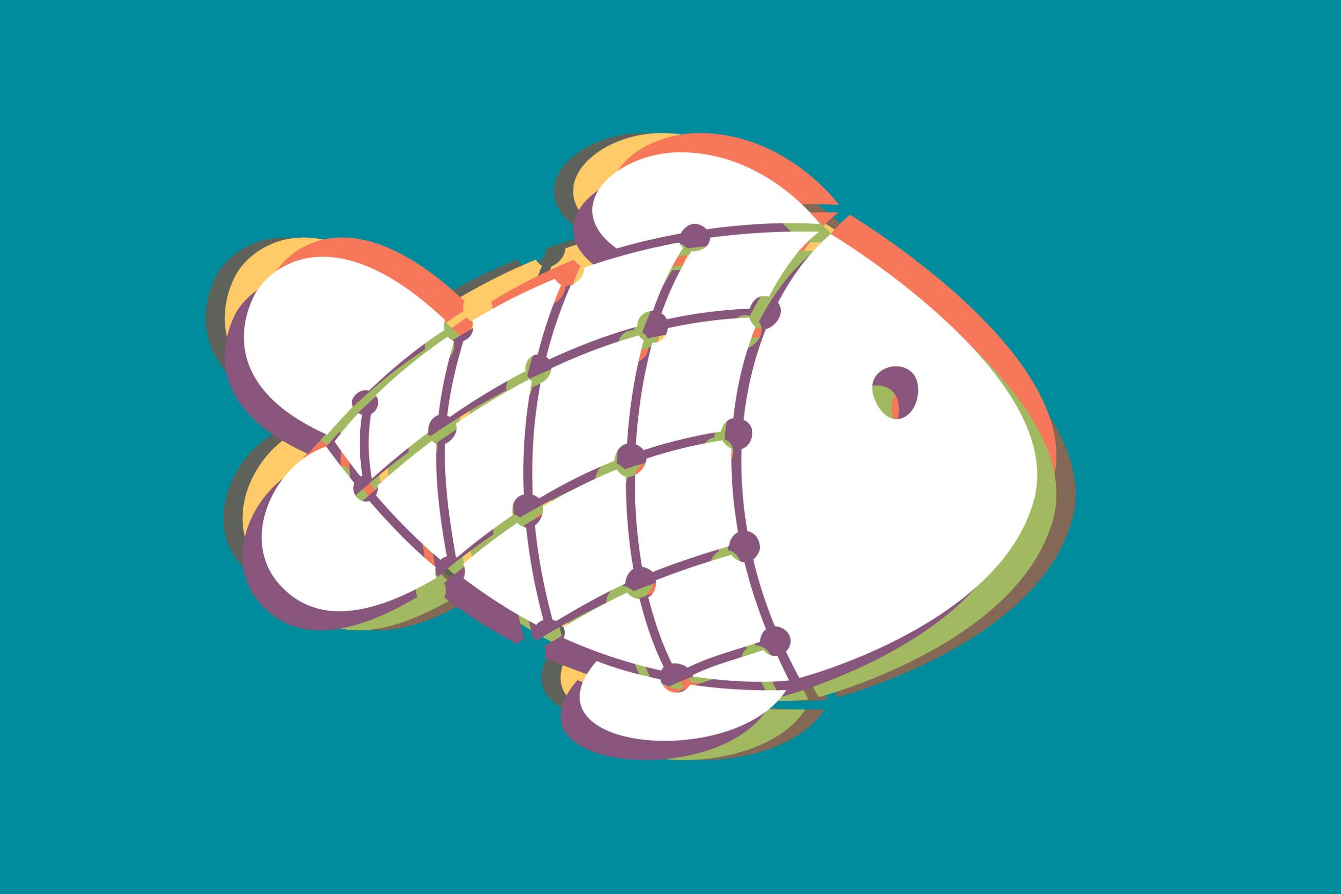 Fisch als neues Logo der Gemeinde St. Peter (Mainz)