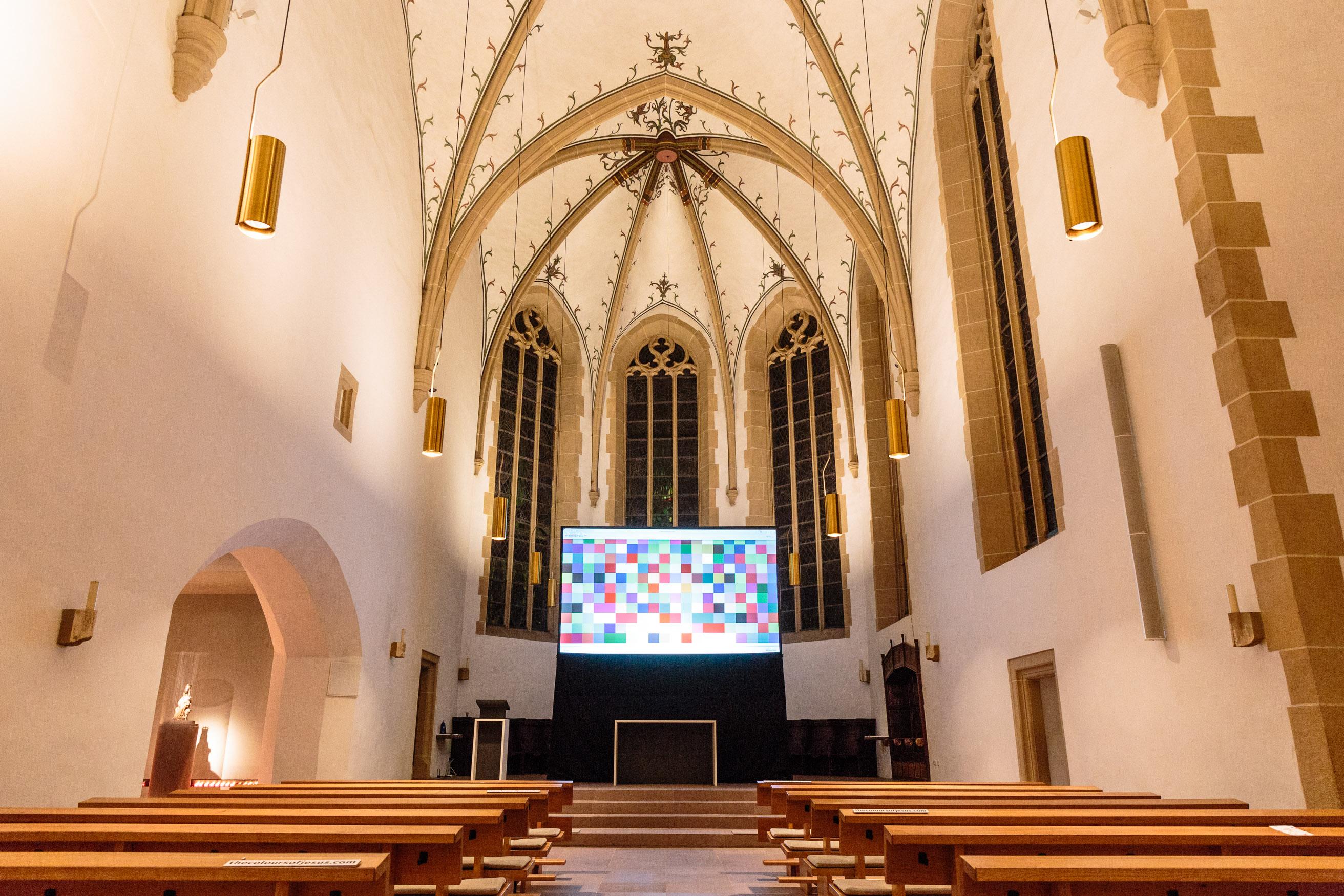 The Colours of Jesus in bei den Bielefelder Nachtansichten 2017 in der St. Jodokus-Kirche