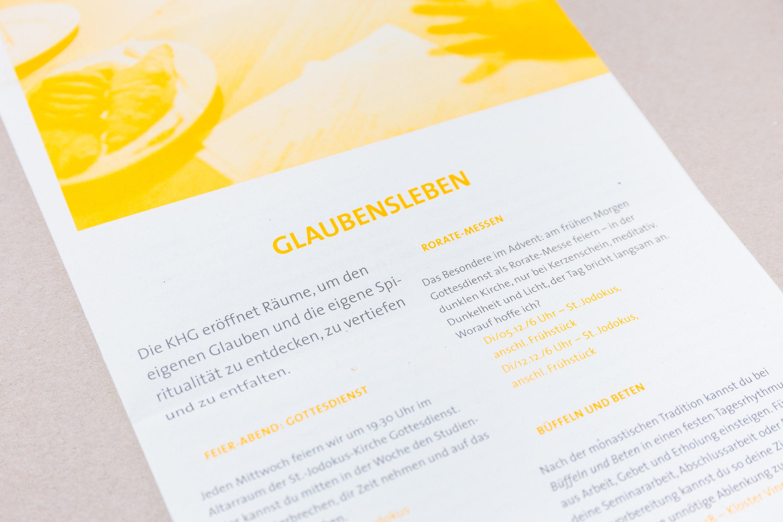 KHG Bielefeld Semesterprogramm, Detail