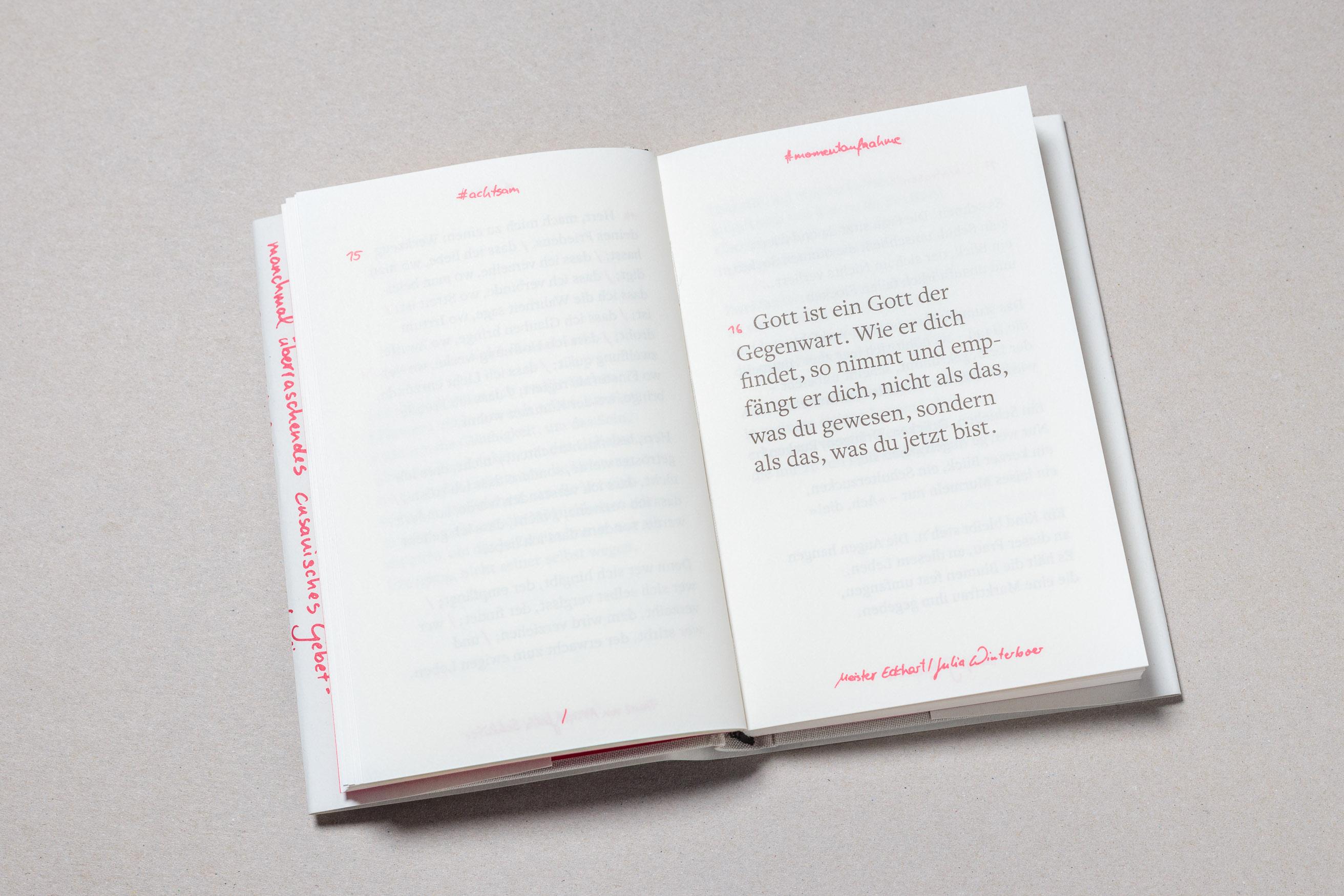 Gebetbuch Cusanuswerk, Doppelseite