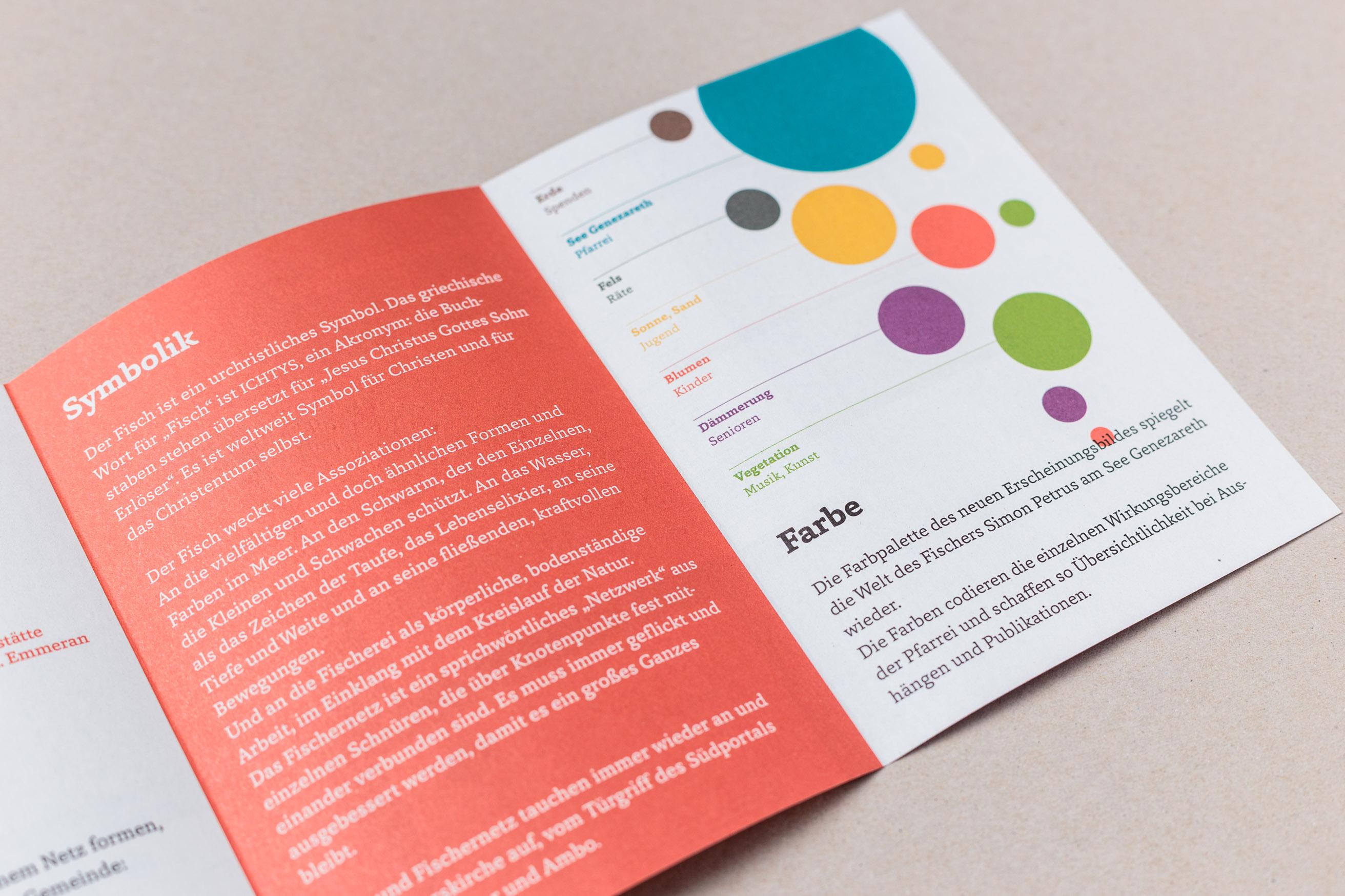 Flyer zu Einführung des neuen Erscheinungsbildes, Gemeinde St. Peter